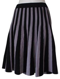 Carmen Marc Valvo Mini Skirt BLACK GRAY