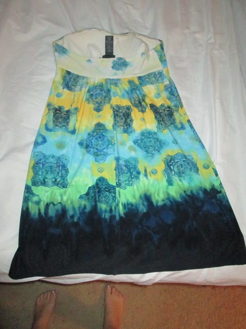 Other short dress blue/green/yellow on Tradesy