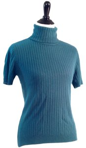 Liz Claiborne All-season Short Sleeve Ribbed Turtleneck Sweater