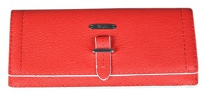 Ralph Lauren * Ralph Lauren Slim Envelope Red Wallet