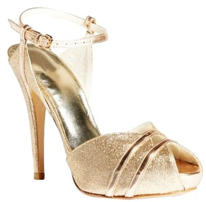 Stuart Weitzman Wedding Glitter Gold Sandals