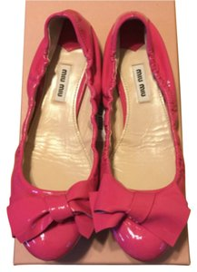 Miu Miu Patent Leather Ballerina Hot pink / Fuchsia Flats