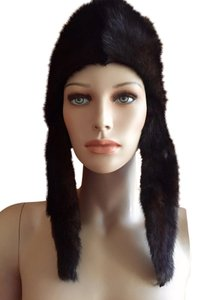 Miriam Rigler New York Gorgeous real MINK fur trapper hat, chic winter / ski hat
