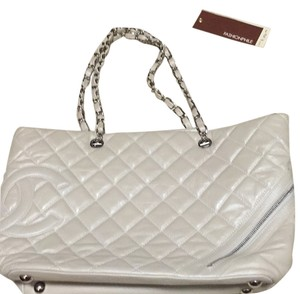 Chanel Cotton Club Lambskin Tote in Pearl Silver