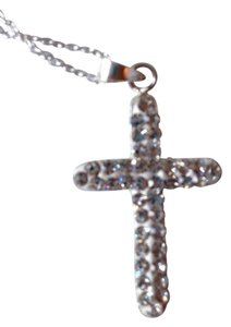 Swarovski Elements Sterling Silver Swarovski Element cross necklace
