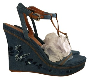Dior Denim Wedges