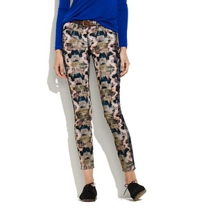 Madewell Animal Print Skinny Pants Multi