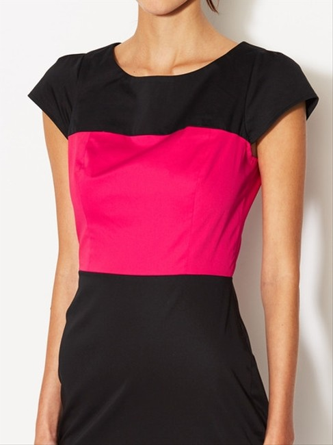 French Connection Black Pink Color Block Dress