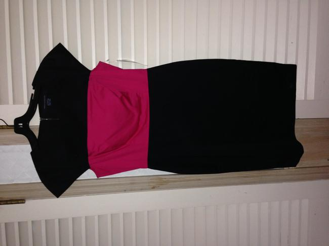 French Connection Black Pink Block Dress