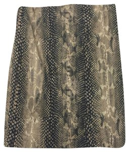 Express High-waist Animal Print Snakeskin Snake Print Pencil Neutral Flattering Coton Slit Curvy Sexy Office Date Night Spring Skirt Snakeskin Printed