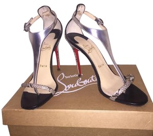 Christian Louboutin Silver,Black,White Sandals