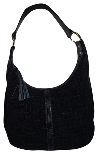 Preload https://img-static.tradesy.com/item/694344/talbots-black-fabric-and-leather-trim-hobo-bag-0-0-540-540.jpg