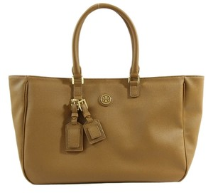 Tory Burch Roslyn Roslyn Leather Shoulder Tote in Brown