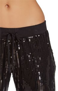 Tart Cropped Sequin Night Out Capris Black
