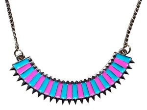 Cotton Candy Pastel and Gold Color Trendy Necklace