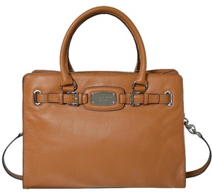 Michael Kors Mk Tote in Luggage Brown/SILVER Hardware