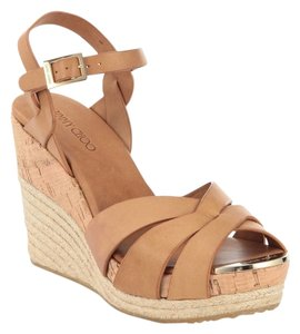 Jimmy Choo Espadrille Tan Sandal Vachetta tan Wedges