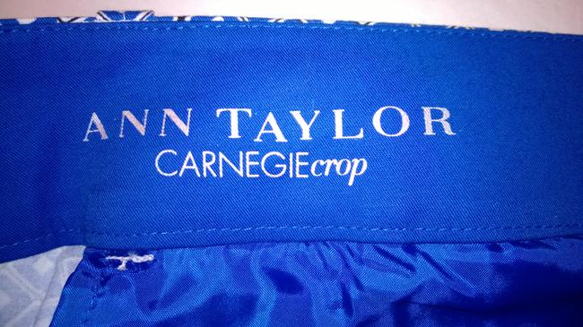 Ann Taylor Capris blue and white