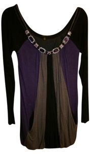 Love & Love Top black, purple, and gray
