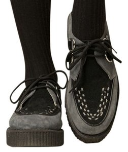 T.U.K Creepers Suede Grey/Black Flats