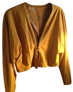 Giorgio Armani Vintage Goat Suede Classic Mustard Jacket