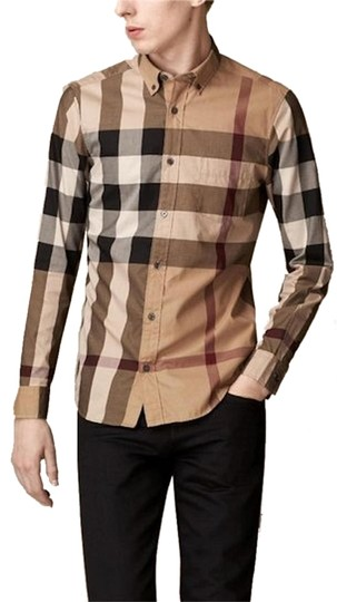 2fb936b396 good Burberry Brit Camel Check Pattern Fred Exploded Mens Shirt Sz Xx-large  Button Down