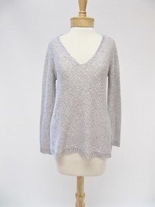 BB Dakota Womens Bb Silver Sequin Long Sleeve Sweater