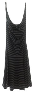 IZ Byer California short dress black/grey Flirty Skirt Stripes on Tradesy