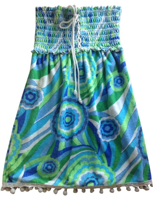 Item - Blue Green White Cover-up/Sarong Size 4 (S)