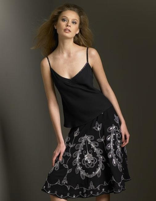Temperley London Silk Jewel Top Black