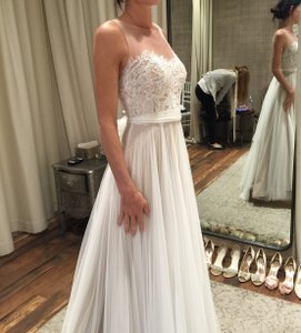 BHLDN Ivory/Bronze Soft Tulle; Polyester Lining Penelope Gown By Watters Feminine Wedding Dress Size 0 (XS)