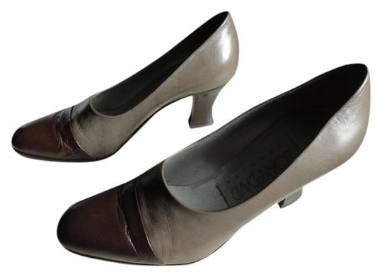 Joan & David Taupe/Brown Pumps
