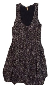 Maeve short dress Black with pink, yellow and green floral print on Tradesy