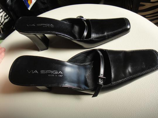 Via Spiga Black Mules