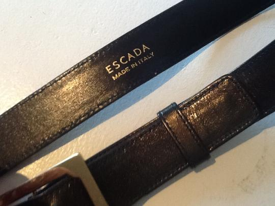 Escada Gold tone leather belt