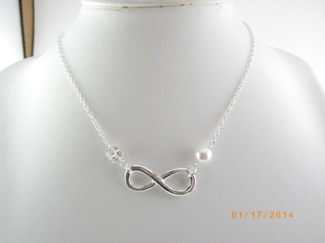 Item - Silver Set Of 5 Infinity Bridesmaid Infinity Charm Set Of 5 Bridesmaid Infinity Necklace