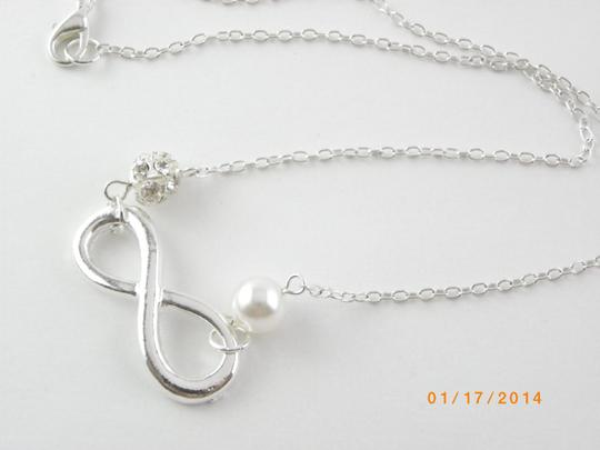 Silver Set Of 5 Infinity Bridesmaid Infinity Charm Set Of 5 Bridesmaid Infinity Necklace