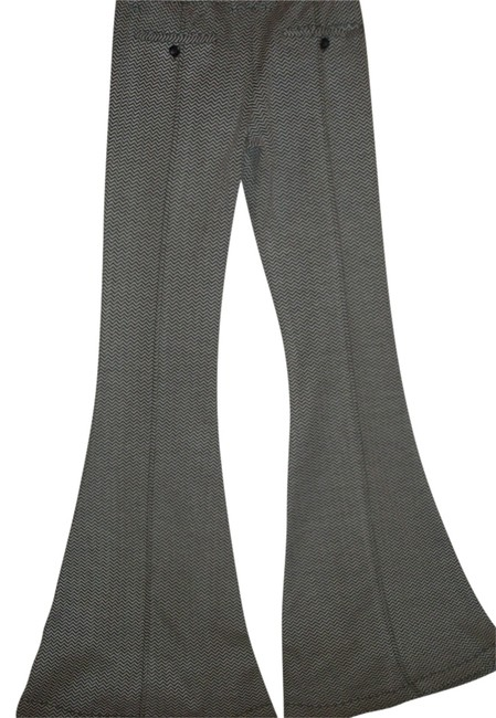 Free People Low Rise Herrngbone Sporty Chic Bell Super Flare Pants