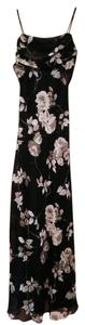 Betsy & Adam Gown Floral Full Length Dress