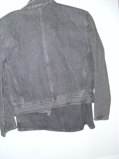 Guess By Marciano Marciano Guess black denim wrap skirt motorcycle jacket coat