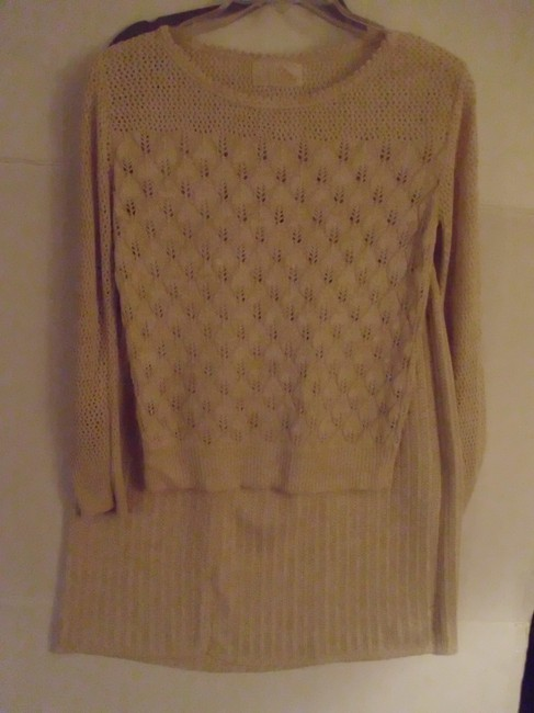 Pure Gold USA union made knit macrame pullover sweater A-line skirt suit