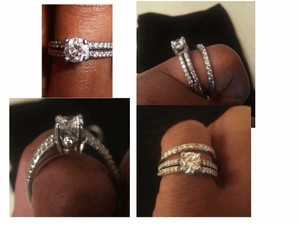 A Jaffe 1.8 Cts Tw Engagement Ring And Band