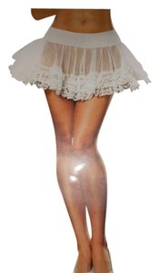 Dreamgirl Dreamgirl White Sheer and Lace Petticoat Fits Sizes 4 to 10/12