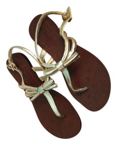 Kelly & Katie Summer Bow Gold Sandals