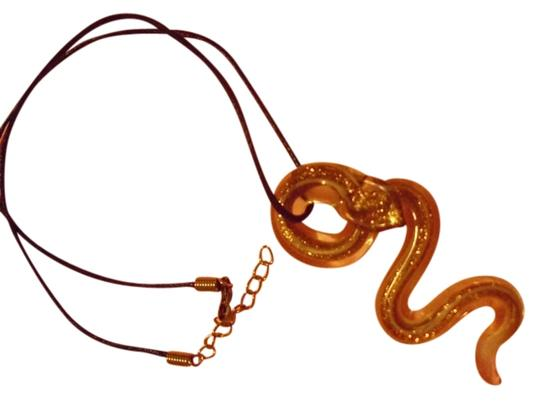 Other Murano glass coiled cobra snake serpent pendant charm necklace