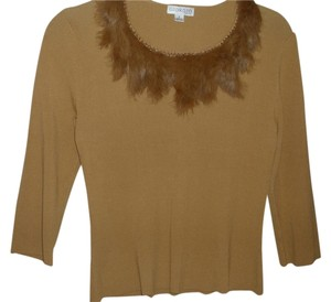 Giorgio Armani Peter Pan Fur Feathered Knit Sweater