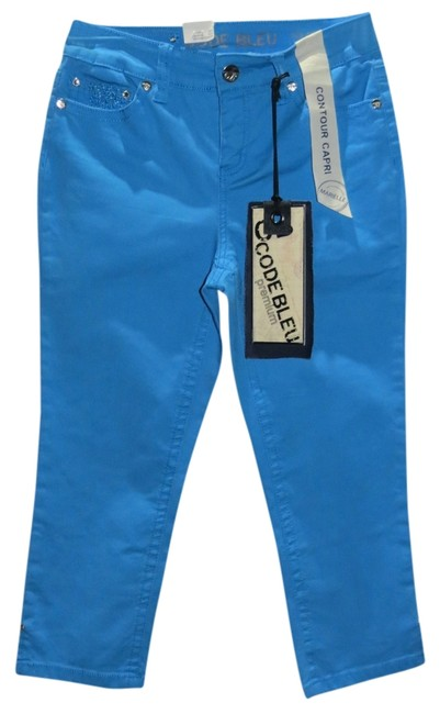 Code Bleu Capri/Cropped Denim-Medium Wash