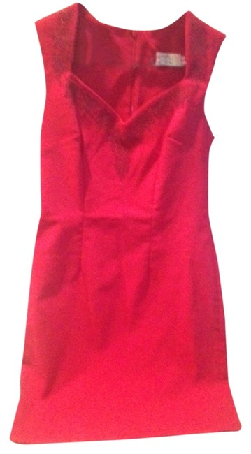 Item - Red Knee Length Cocktail Dress Size 8 (M)