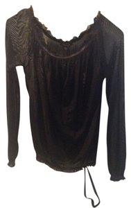 bebe Top black sheer