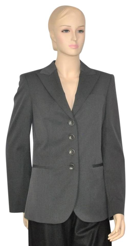 Gray Wool Suit Jacket